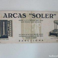 Coleccionismo Papel secante: PAPEL SECANTE - PUBLICIDAD ARCAS SOLER, BARCELONA - ARCAS Y BASCULAS - AÑOS 30. Lote 135392806