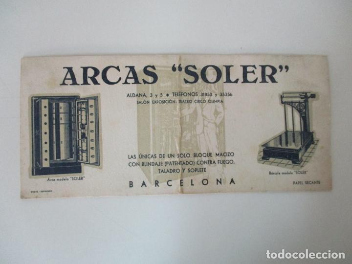 Coleccionismo Papel secante: Papel Secante - Publicidad Arcas Soler, Barcelona - Arcas y Basculas - Años 30 - Foto 4 - 135392806