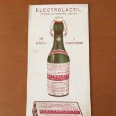 Coleccionismo Papel secante: PAPEL SECANTE PUBLICIDAD FARMACIA ELECTROLACTIL. Lote 137312820