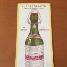 Coleccionismo Papel secante: PAPEL SECANTE PUBLICIDAD FARMACIA ELECTROLACTIL ASENSI, XERRI Y CO VALENCIA. Lote 137313264