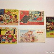 Coleccionismo Papel secante: 5 SECANTE WATERMAN SAMAS PELIKAN CENTAURO.. Lote 137490554