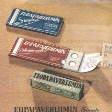 Coleccionismo Papel secante: PAPEL SECANTE - EUPAPAVERLUMIN - LABORATORIOS PIDEFÉ - MÁLAGA.. Lote 137698354