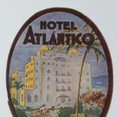 Coleccionismo Papel secante: ANTIGUO SECANTE PUBLICIDAD HOTEL ATLANTICO CADIZ. Lote 139481658