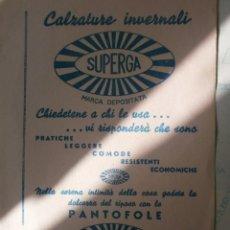 Coleccionismo Papel secante: PAPEL SECANTE CALZADOS ITALIANO. Lote 141653818