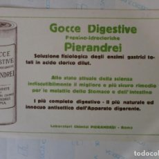 Coleccionismo Papel secante: PAPEL SECANTE MEDICAMENTO ITALIANO. Lote 141654002