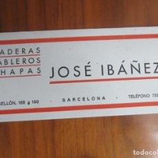 Coleccionismo Papel secante: PAPEL SECANTE-JOSE IBAÑEZ- MUY BUENO. Lote 142379058