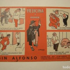 Coleccionismo Papel secante: SECANTE FABRICA DE PINTURAS MAGIN ALFONSO. ILUSTRADO POR CASTANYS ESTADO EL DE LAS FOTOS 22 X 13. Lote 144055502