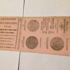 Coleccionismo Papel secante: ANTIGUO PAPEL SECANTE FOSFO-HEMOGLOBINA VITORIA. Lote 144657648
