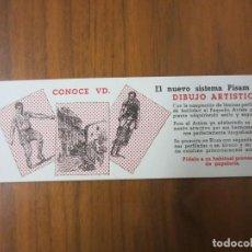 Coleccionismo Papel secante: PAPEL SECANTE-DIBUJO ARTISTICO-SIN USAR. Lote 145370414
