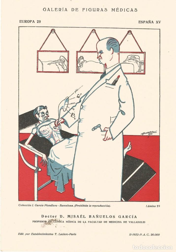 SECANTE CARICATURA FIGURA MEDICO FARMACIA ORIGINAL 1932 DR. MISAEL BAÑUELOS GARCIA DE VALLADOLID (Coleccionismo - Papel Secante)