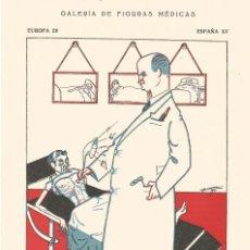 Coleccionismo Papel secante: SECANTE CARICATURA FIGURA MEDICO FARMACIA ORIGINAL 1932 DR. MISAEL BAÑUELOS GARCIA DE VALLADOLID. Lote 145804714