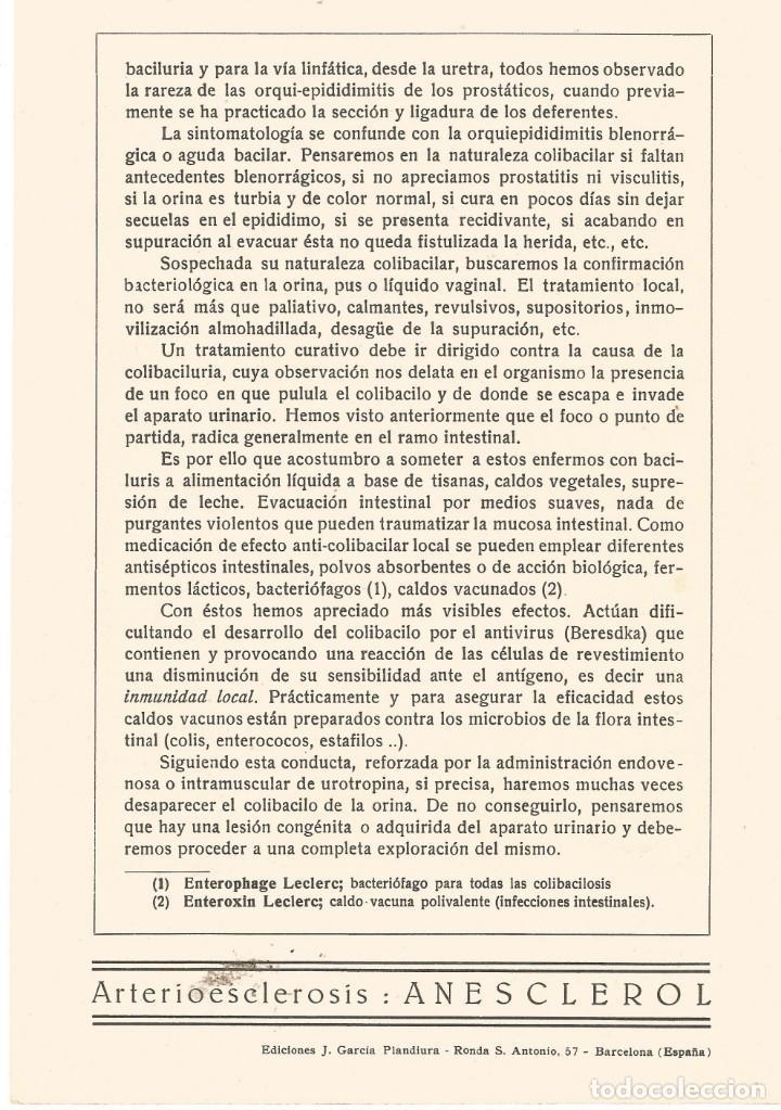 Coleccionismo Papel secante: dibujo caricatura figura medico 1932 doctor mariano breton urologo barcelona coleccion plandiuria - Foto 2 - 145810206