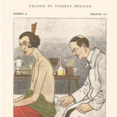 Coleccionismo Papel secante: SECANTE GALERIA DE FIGURAS MEDICAS CARICATURA DE 1932 DOCTOR MILIAN COLECCION GARCIA PLANDIURA. Lote 145849254