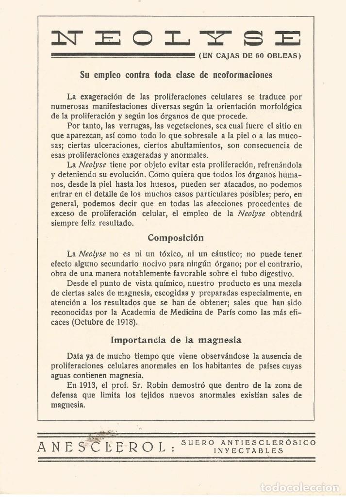 Coleccionismo Papel secante: SECANTE GALERIA DE FIGURAS MEDICAS CARICATURA DE 1932 DOCTOR MILIAN COLECCION GARCIA PLANDIURA - Foto 2 - 145849254