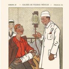 Coleccionismo Papel secante: SECANTE GALERIA FIGURAS MEDICAS CARICATURA 1932 DR CARREL CIRUJANO DEL INT ROCKFELLER NEW YORK. Lote 145850018