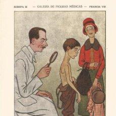 Coleccionismo Papel secante: CARICATURA GALERIA FIGURAS MEDICAS CARICATURA 1932 DR MARCEL PINARD MEDICO JEFE CLINICA DE PARIS. Lote 145850402