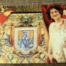 Coleccionismo Papel secante: ANTIGUO PAPEL SECANTE CARTEL FERIA SEVILLA 1914, RARO. Lote 147568018