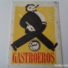 Coleccionismo Papel secante: GASTROEROS. PAPEL SECANTE.. Lote 149711898