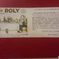 Coleccionismo Papel secante: SECANTE MAGNESIA ROLY FOSFO SILICIADA. Lote 151293609