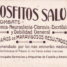 Coleccionismo Papel secante: HIPOFOSFITOS SALUD TORTOSA TARRAGONA . Lote 153422118