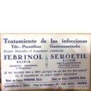 Coleccionismo Papel secante: SECANTE FEBRINOL - SEROETIL. Lote 60532419