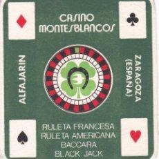Coleccionismo Papel secante: PAPEL SECANTE DEL CASINO MONTESBLANCOS DE ALFAJARIN (RULETA). Lote 155814578