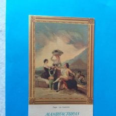 Coleccionismo Papel secante: PAPEL SECANTE PUBLICIDAD MANUFACTURAS RABANAL S.A. ARTÍCULOS DE PUNTO. MADRID. Lote 158159750
