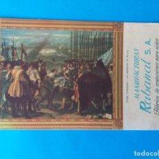 Coleccionismo Papel secante: PAPEL SECANTE PUBLICIDAD MANUFACTURAS RABANAL S.A. ARTÍCULOS DE PUNTO. MADRID. Lote 158160182