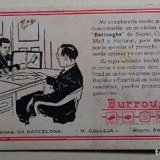 Coleccionismo Papel secante: MÁQUINAS DE SUMAR, CALCULAR, FACTURAR Y CONTABILIDAD. BURROUGHS.. Lote 160402190