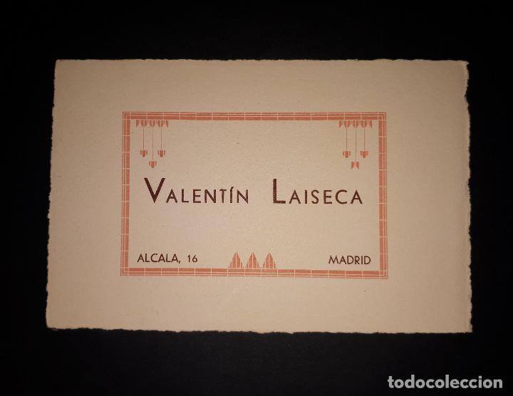 ANTIGUO PAPEL SECANTE JOYERIA VALENTIN LAISECA MADRID (Coleccionismo - Papel Secante)