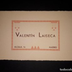 Coleccionismo Papel secante: ANTIGUO PAPEL SECANTE JOYERIA VALENTIN LAISECA MADRID. Lote 160540934