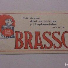 Coleccionismo Papel secante: BRASSO, PAPEL SECANTE. Lote 162296034