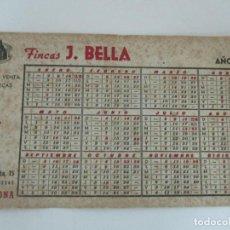 Coleccionismo Papel secante: PAPEL SECANTE - PUBLICIDAD FINCAS J. BELLA, BARCELONA - CALENDARIO AÑO 1944. Lote 162393542