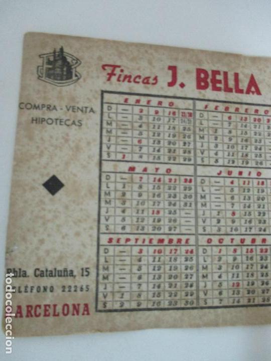 Coleccionismo Papel secante: Papel Secante - Publicidad Fincas J. Bella, Barcelona - Calendario Año 1944 - Foto 2 - 162393542