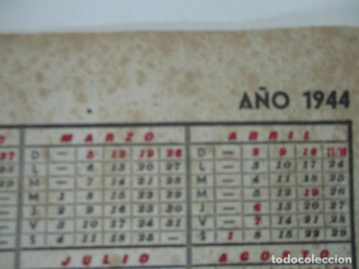 Coleccionismo Papel secante: Papel Secante - Publicidad Fincas J. Bella, Barcelona - Calendario Año 1944 - Foto 3 - 162393542