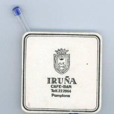 Coleccionismo Papel secante: ANTIGUO POSAVASOS CAFÉ IRUÑA PAMPLONA.. Lote 163430086