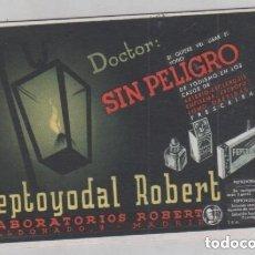 Coleccionismo Papel secante: PUBLICIDAD DE FARMACIA SECANTE PEPTOYODAL ROBERT, LABORATORIOS ROBER. Lote 165079602