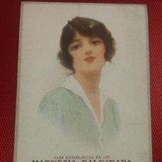 Coleccionismo Papel secante: SECANTE MUJER CON PUBLICIDAD MAGNESIA CALCINADA HENRY FARMACIA. THOMAS & WILLIAM . E DURAN MADRID.. Lote 165591570
