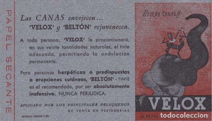 PAPEL SECANTE VELOX Y BELTON VER FOTO ADICIONAL (Coleccionismo - Papel Secante)