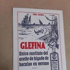 Coleccionismo Papel secante: PAPEL SECANTE,GLEFINA,LABORATORIOS ANDROMACO,AÑOS 50. Lote 166951204