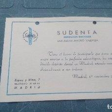 Coleccionismo Papel secante: SUDENTA - PAPEL SECANTE PUBLICITARIO, CAMBIO DE ESTABLECIMIENTO.. Lote 169599304
