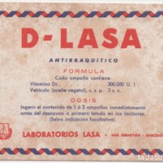 Coleccionismo Papel secante: SECANTE D-LASA. Lote 170536232