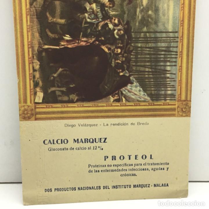 Coleccionismo Papel secante: PAPEL SECANTE CALCIO MARQUEZ - PROTEOL - PRODUCTOS NACIONALES DEL INSTITUTO MARQUEZ - MALAGA - Foto 3 - 172306952