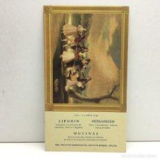Coleccionismo Papel secante: PAPEL SECANTE GOYA - LA GALLINA CIEGA - LIPODIN, MEDULOSTEO - INSTITUTO MARQUEZ - MALAGA . Lote 172308120