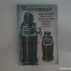 Coleccionismo Papel secante: ANTIGUO PAPEL SECANTE TINTA WATERMANS, LEER DESCIPCION. Lote 195692568