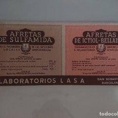 Coleccionismo Papel secante: MEDICAMENTO AFRETAS LABORATORIOS LASA, LEER DESCIPCION. Lote 173915937