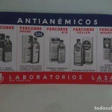 Coleccionismo Papel secante: MEDICAMENTO AFRETAS LABORATORIOS LASA, LEER DESCIPCION. Lote 173916279