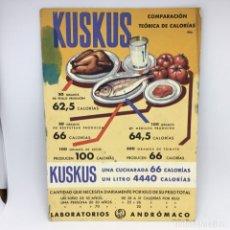 Coleccionismo Papel secante: PAPEL SECANTE KUSKUS - LABORATORIOS ANDRÓMACO . Lote 174241449