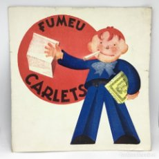 Coleccionismo Papel secante: PAPEL SECANTE FUMEU CARLETS - TABACO . Lote 174241924
