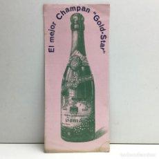 Coleccionismo Papel secante: PAPEL SECANTE EL MEJOR CHAMPAN ''GOLD-STAR''. Lote 174270392